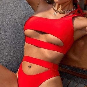 Red Swimsuit Wrap